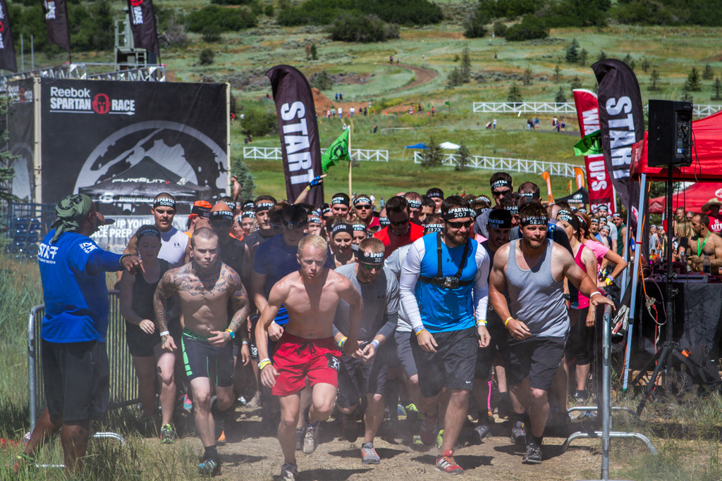 Groups of pumped-up racers started onto the 12 mile course every 15 minutes.