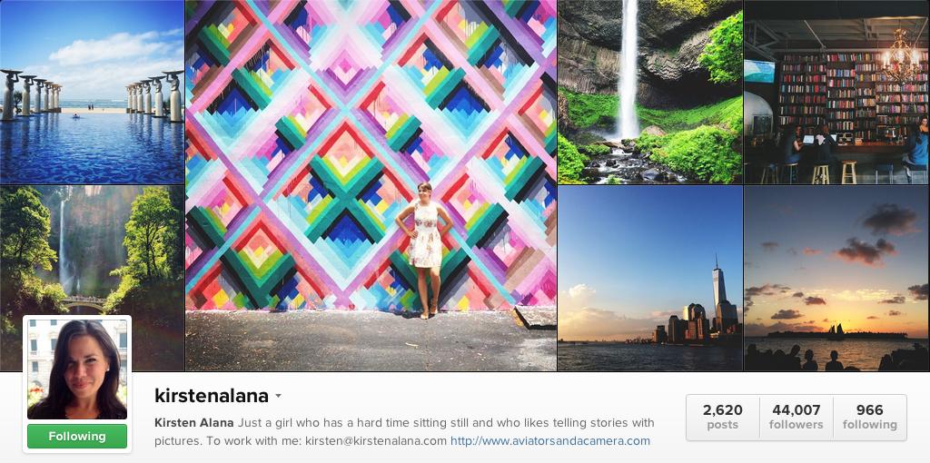 Kirsten Alana on Instagram - Travel Photographers on Instagram