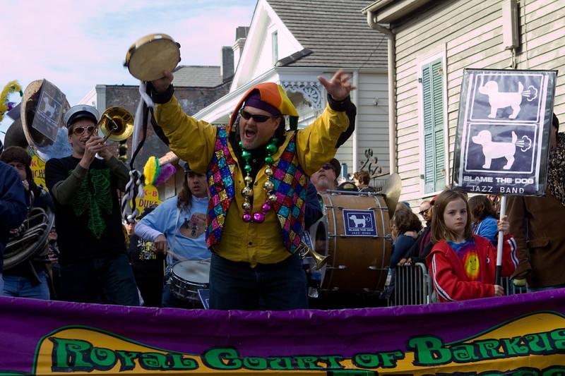 The Royal Court of Barkus parade troupe.